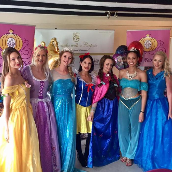 Jas and the Miss England finalists hosting the Family Funday